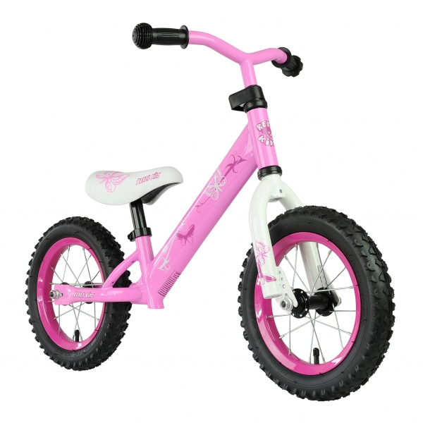 bici sin pedales rebel kidz butterfly acero rosa