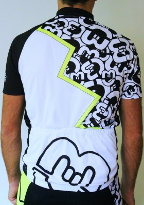 CoreBicycle maillot blanco negro logo BEST CoolConfort_2