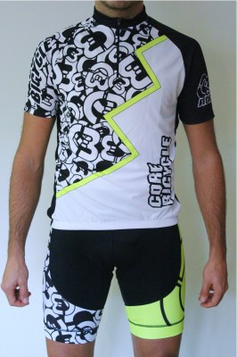CoreBicycle maillot blanco negro logo BEST CoolConfort_4