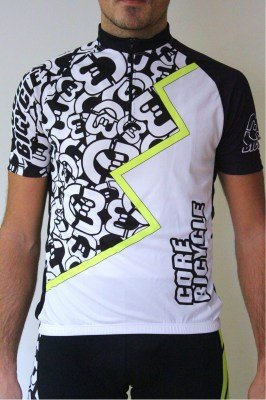 CoreBicycle maillot blanco negro logo BEST CoolConfort_1