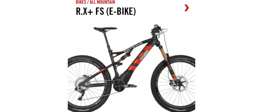 Bicicleta eléctrica / E-Bike de All mountain Rotwild R.X+ FS 2017