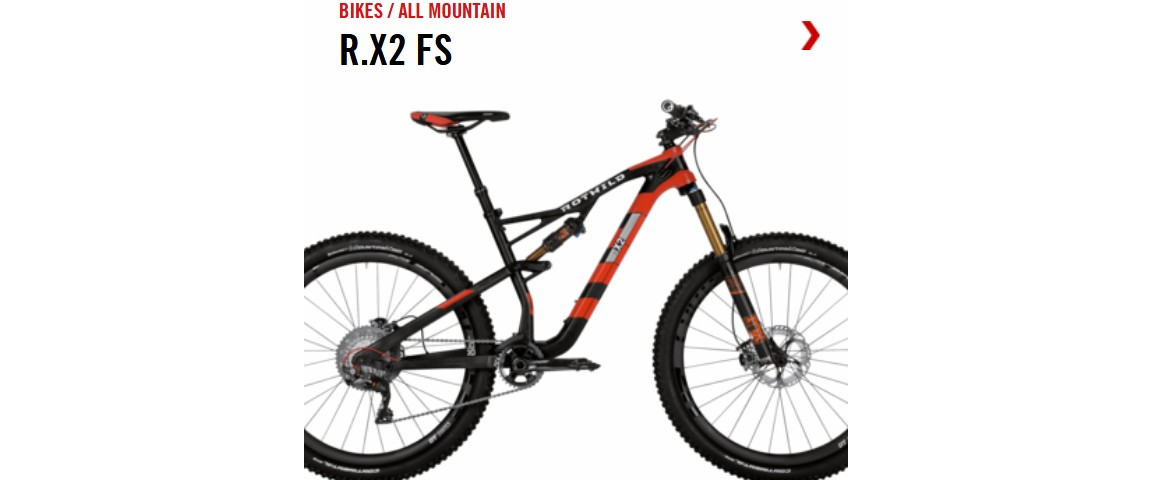 Bicicleta de All mountain de carbono Rotwild R.X2 2017