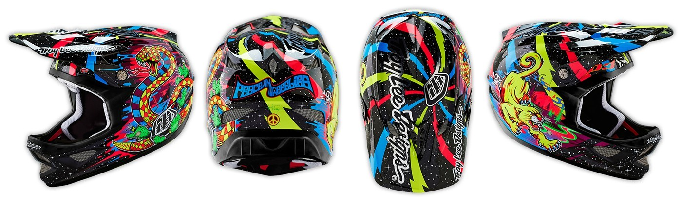 comprar online barato el casco Troy Lee Designs D3 BLACKLIGHT